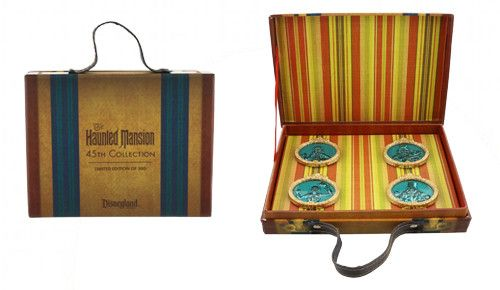 Suitcase pin set from Disneyland's Haunted Mansion 45th anniversary!