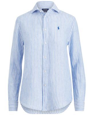Relaxed Shirt 14 Linen Ralph Fit Polo Lauren Striped Bluewhite 0mN8nw