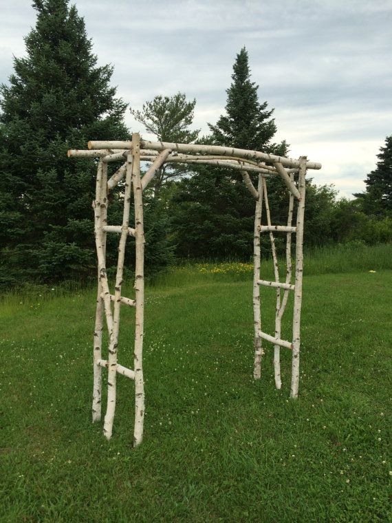 Branched White Birch Wedding Arch 6 Ft Wide By 7 Tall 20 Deep This Comes As A Kit Which Means All The Poles Are Cut To Size