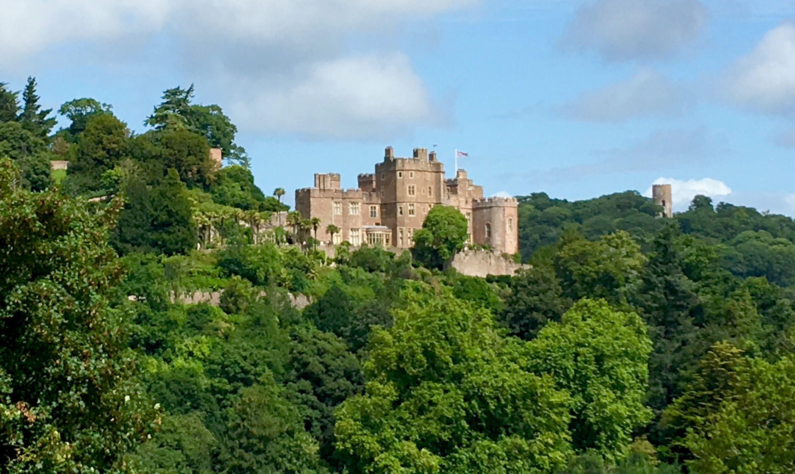 Dunster Castle from The Deer Park, Dunster, Somerset.