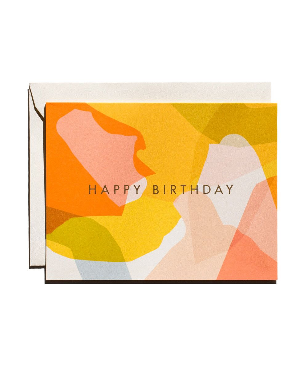 Modern Birthday Card With Images Birthday Card Design Card