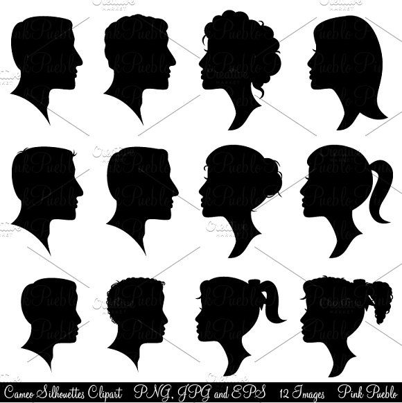 Cameo Silhouettes Clipart Vectors Man And Woman Silhouette Silhouette Clip Art Silhouette Vector