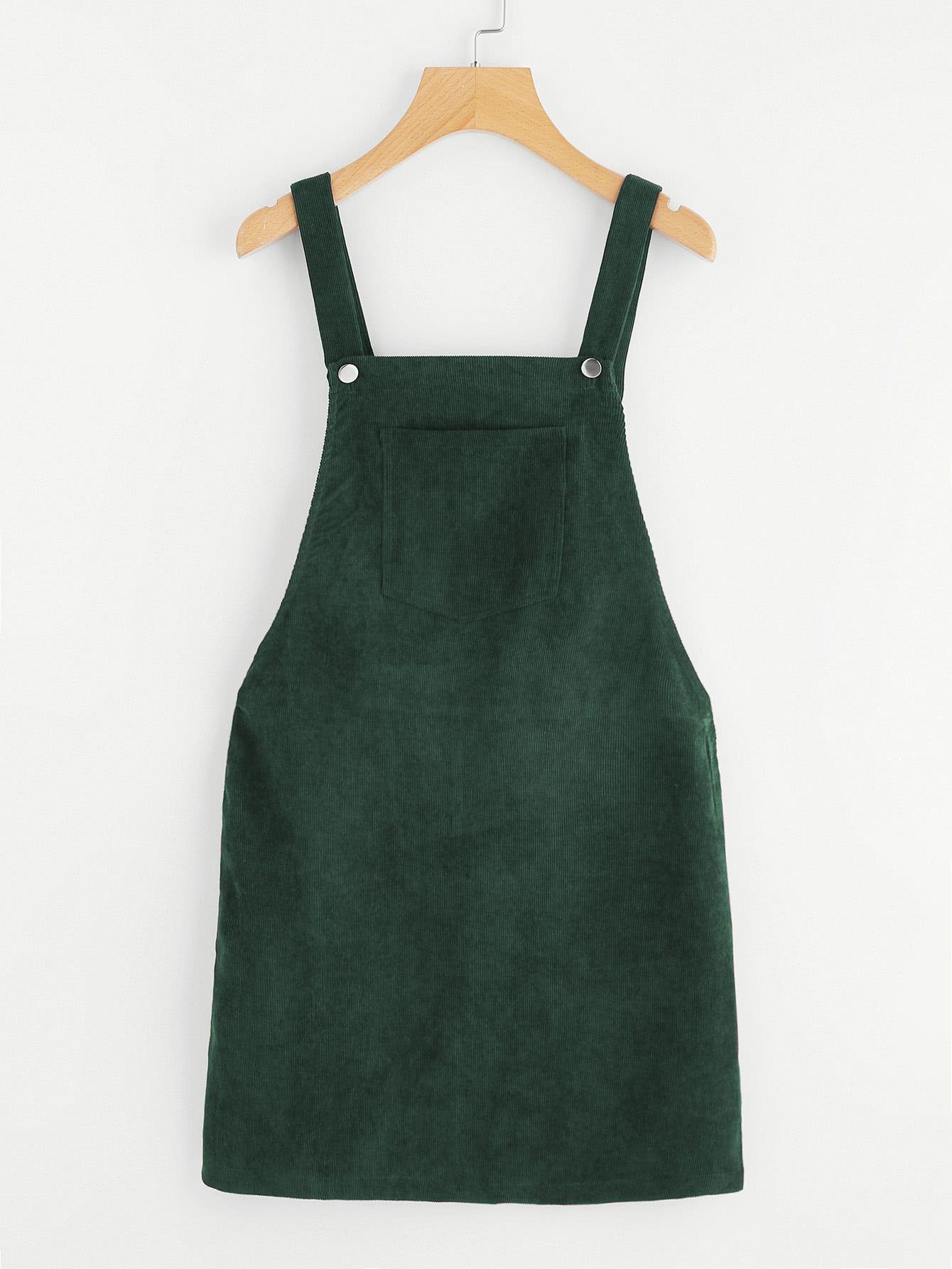 06cdc03332 Shop Bib Pocket Front Overall Dress EmmaCloth-Women Fast Fashion Online