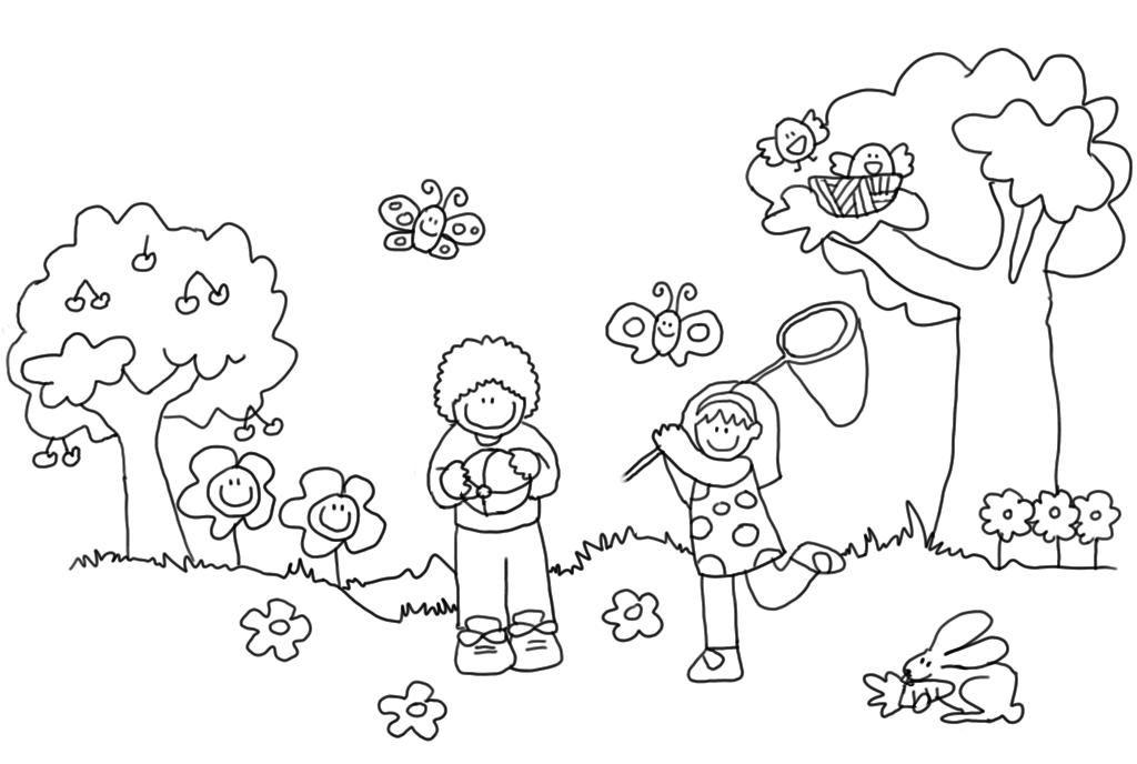 Dibujos De Paisajes De Primavera Para Colorear Buscar Con Google