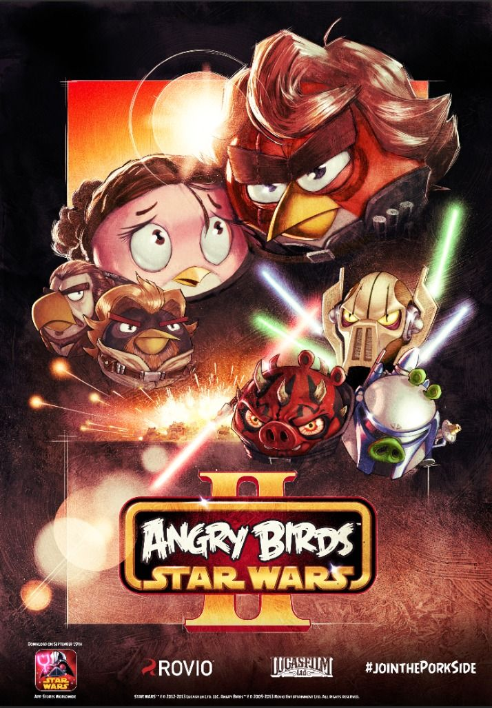 Exclusive Angry Birds Star Wars 2 posters at Comic-Con 1pm at the - fresh angry birds go jenga coloring pages