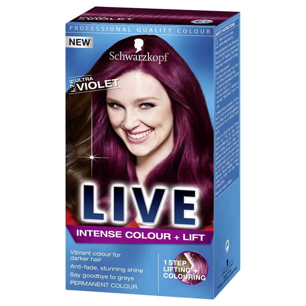 857b8676de Experience true HD colour with Schwarzkopf LIVE Color XXL HD Luminance Ultra  Violet L76. Description from wilko.com. I searched for this on  bing.com/images