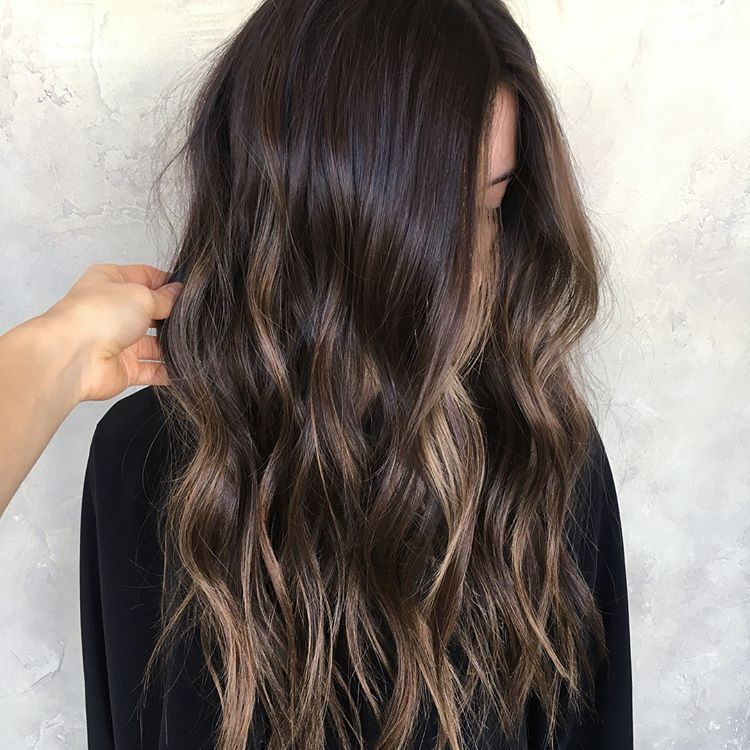 Grown Out Sombre Turned Into Rich Chocolate Brown With Honey Dimension Babylights Som Brown Hair With Highlights Brown Hair Balayage Brunette Hair Color