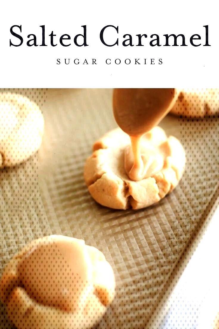 caramel sugar cookie recipe - a soft sugar cookie base with a brown sugar caramel ici -Amazing salt