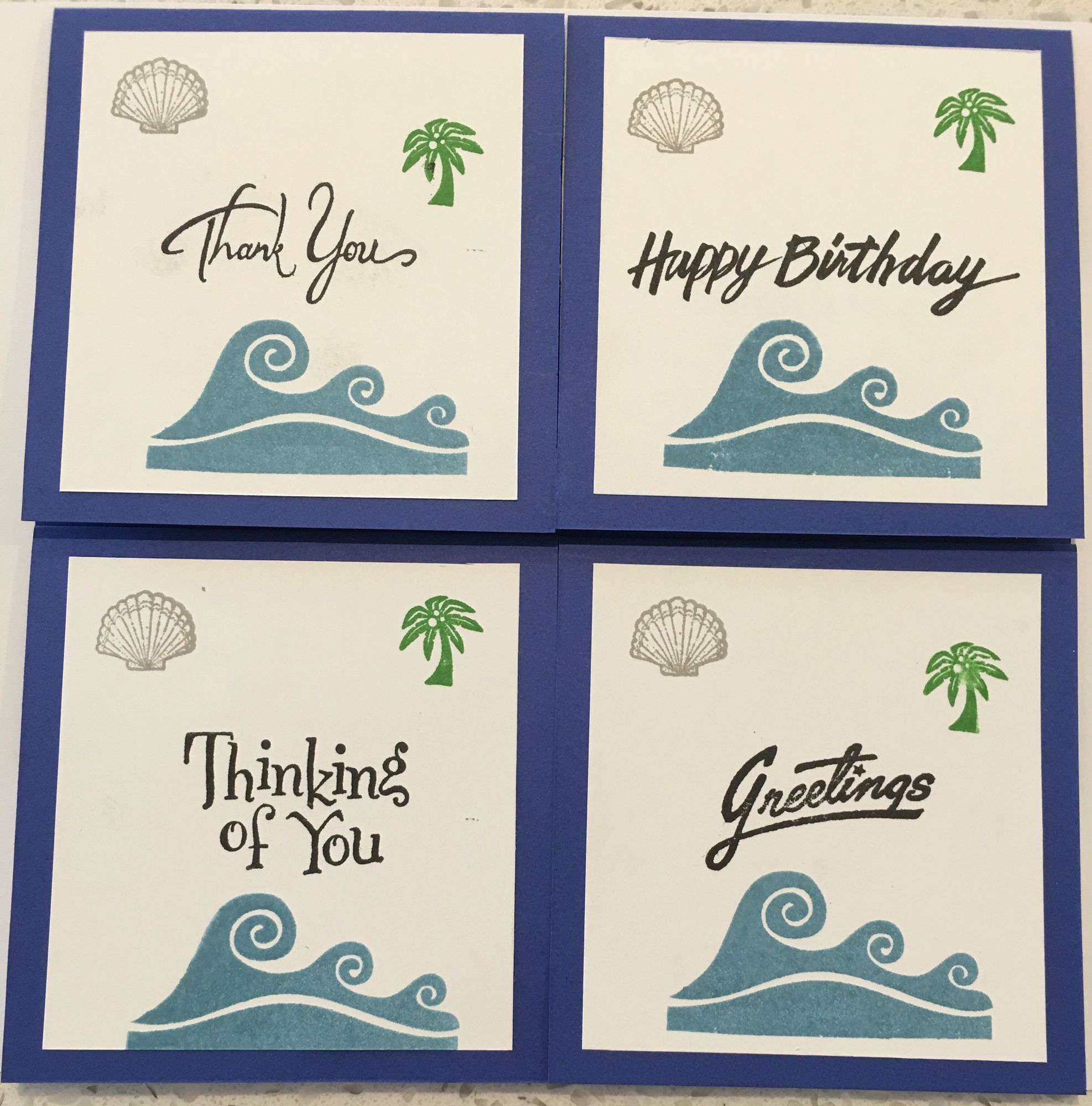 Cby Outside Of Four Explosion Beach Themed Greeting Cards Thank