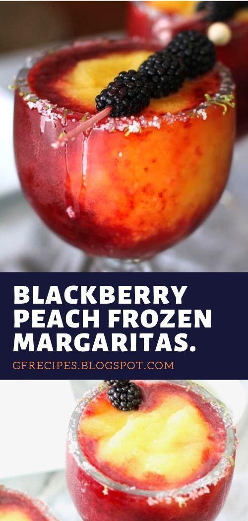 Blackberry Peach Frozen Margaritas