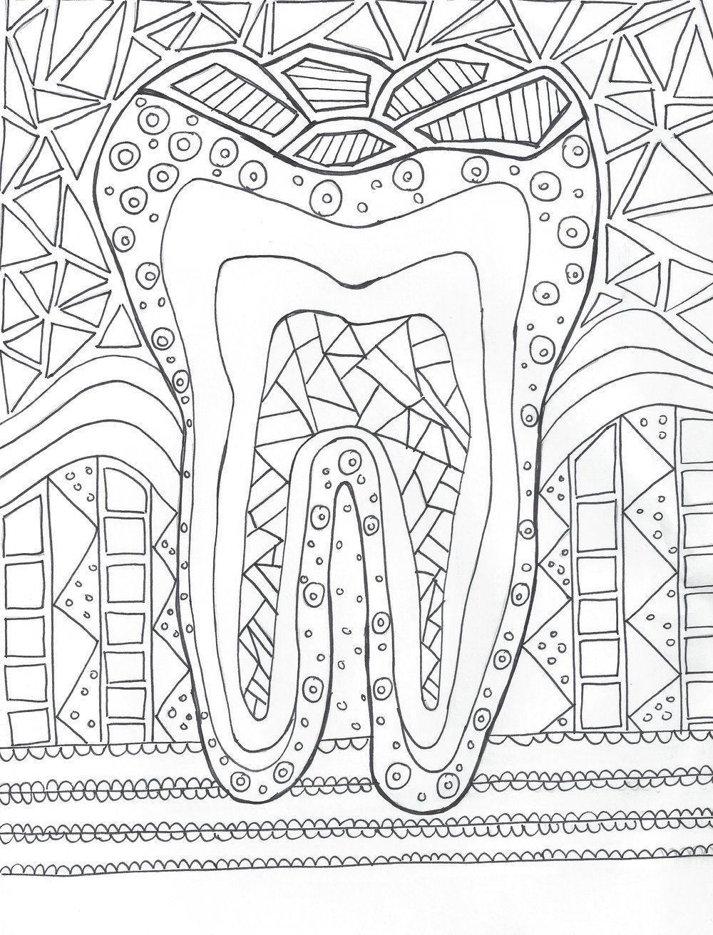 Coloring Page Hygiene Edge Dental Hygiene School Dental Anatomy Dental Hygiene