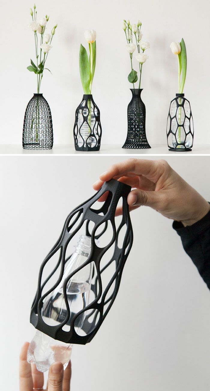 3D-Printed Vases That Give Plastic Bottles A Second Life