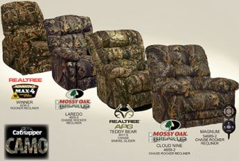 Camouflage Recliners Bring One With You When You Go