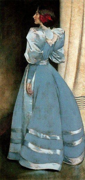 John White Alexander (1856 – 1915) Portrait in Gray