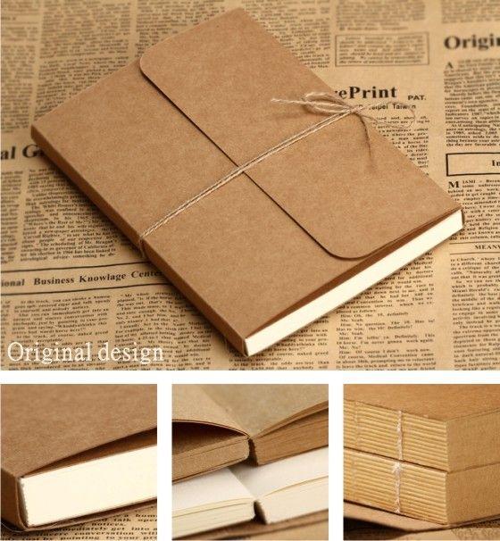 2013 vintage kraft cover paper a4 a5 blank doodle notebook nt001 art design. Black Bedroom Furniture Sets. Home Design Ideas
