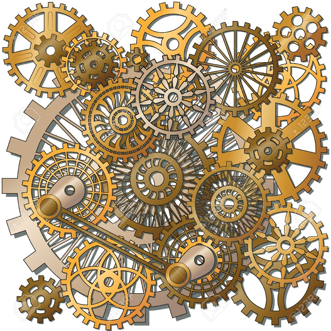 Clock Gear Cliparts Stock Vector And Royalty Free