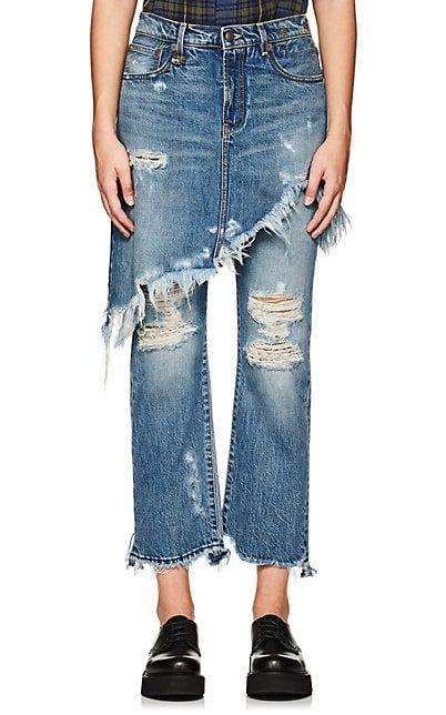 R13 Double Classic Crop Jeans - Jeans - 505504763