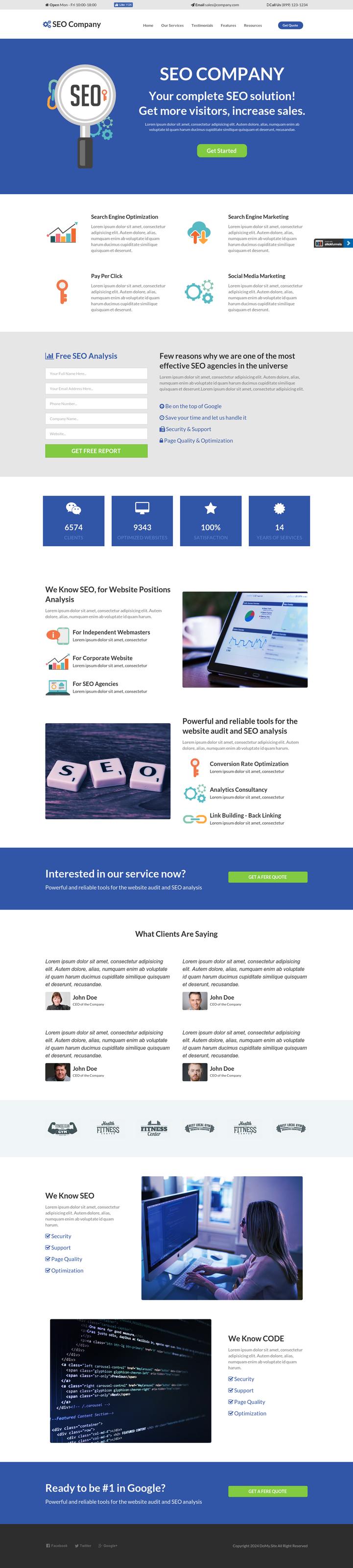 SEO Service Provider Template Premium Clickfunnels Template - Do My ...