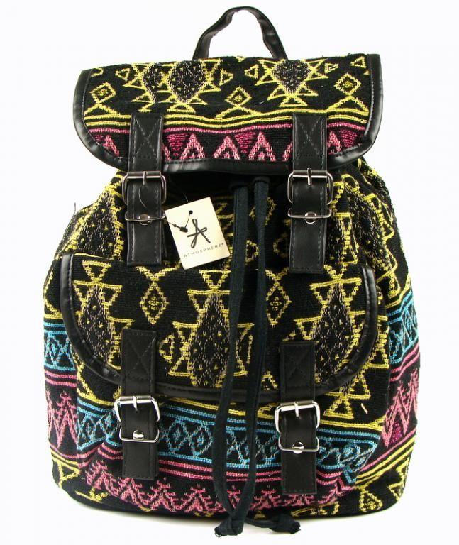 139d9fc1ccda8 Hipsterski plecak motyw aztecki primark atmosphere