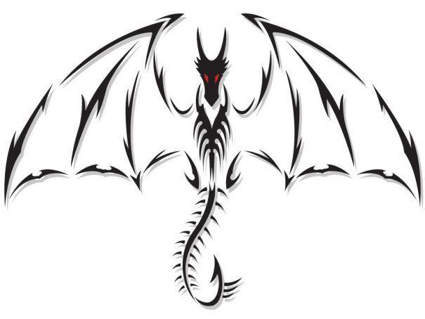 28 Easy Things To Draw To Banish Boredom And Boost Your Mood Tribal Dragon Tattoos Dragon Tattoo Designs Black Dragon Tattoo