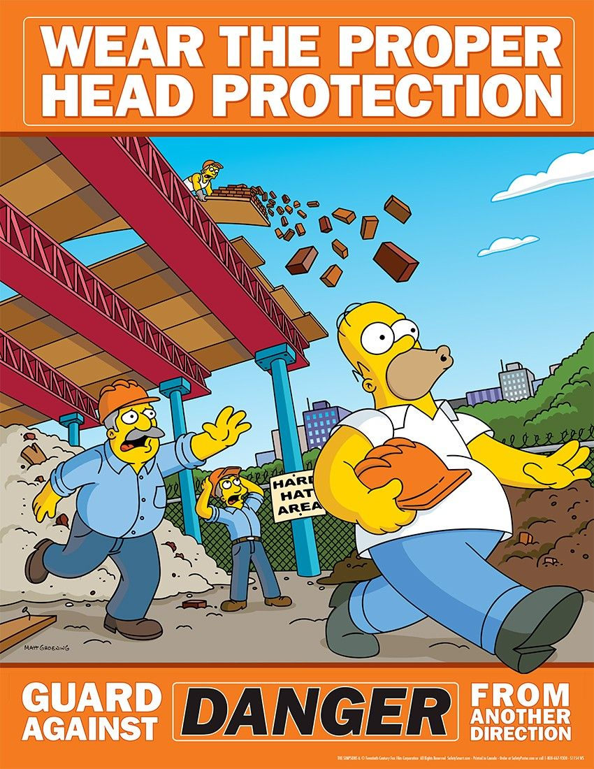 PPE & Work Saftey advice from the Simpsons - Imgur | Safety ...