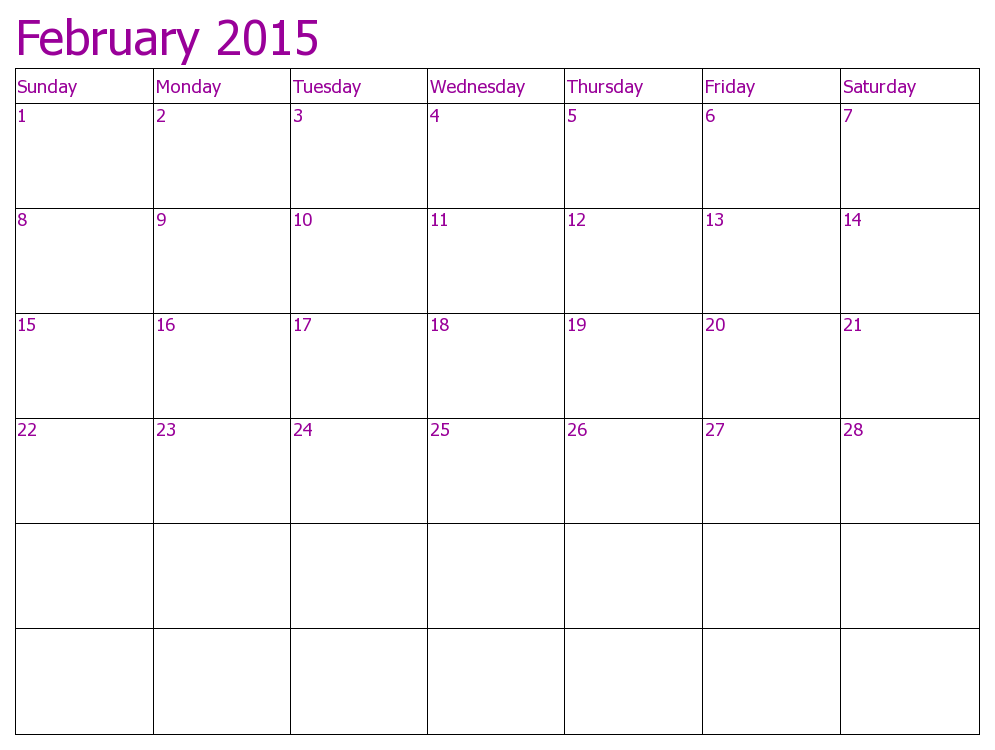 Download  Calendar February Printable Templates  Designs