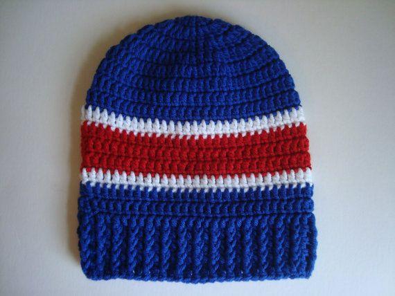 5c26c4cea Buffalo Bills OR New York Giants Crochet Slouch Hat Beanie for Adult ...