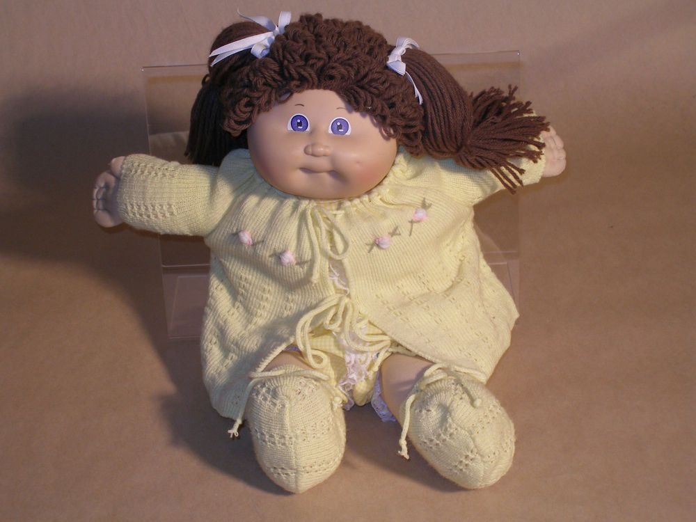 Vintage Cabbage Patch Kid 1983 Girl W Yellow Sweater Cabbage Patch Kids Cabbage Patch Dolls Yellow Sweater