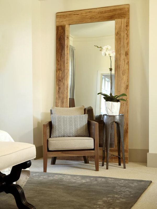New large mirrors diy leaning full length mirror frame for Full length mirror in living room