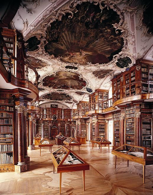 Abbey Library of St Gall Switzerland  The library collection is the oldest in