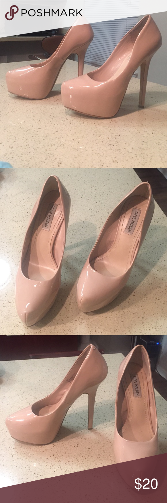 NUDE STEVE MADDEN DEJAVU PUMPS SIZE 8.5 Size 8.5 Steve Madden dejavu pump / minor scuffs // worn twice Steve Madden Shoes Heels