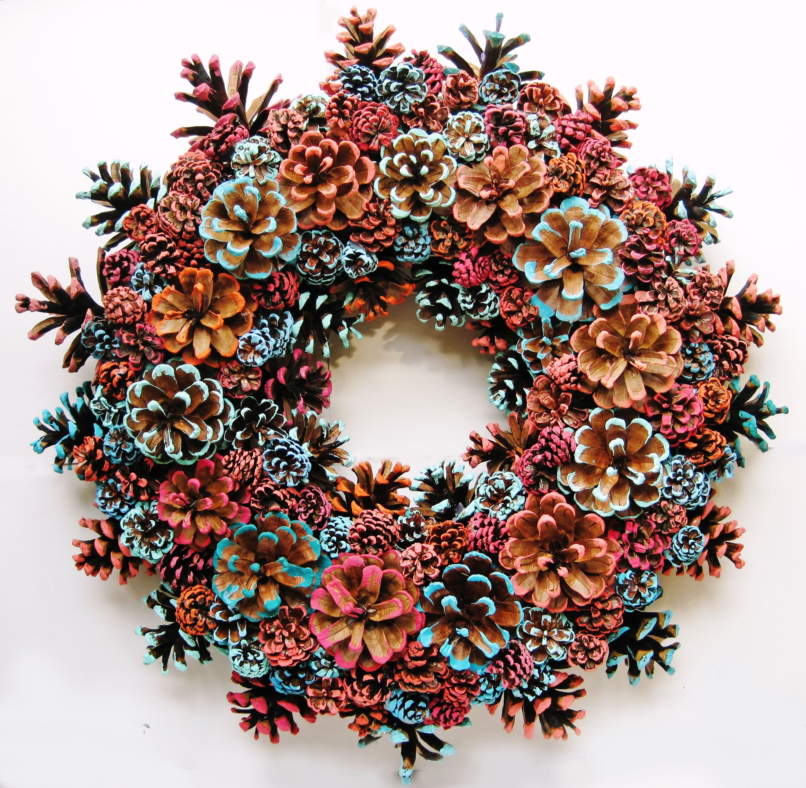 Pin By EacArt On Handmade Pine Cone Wreaths