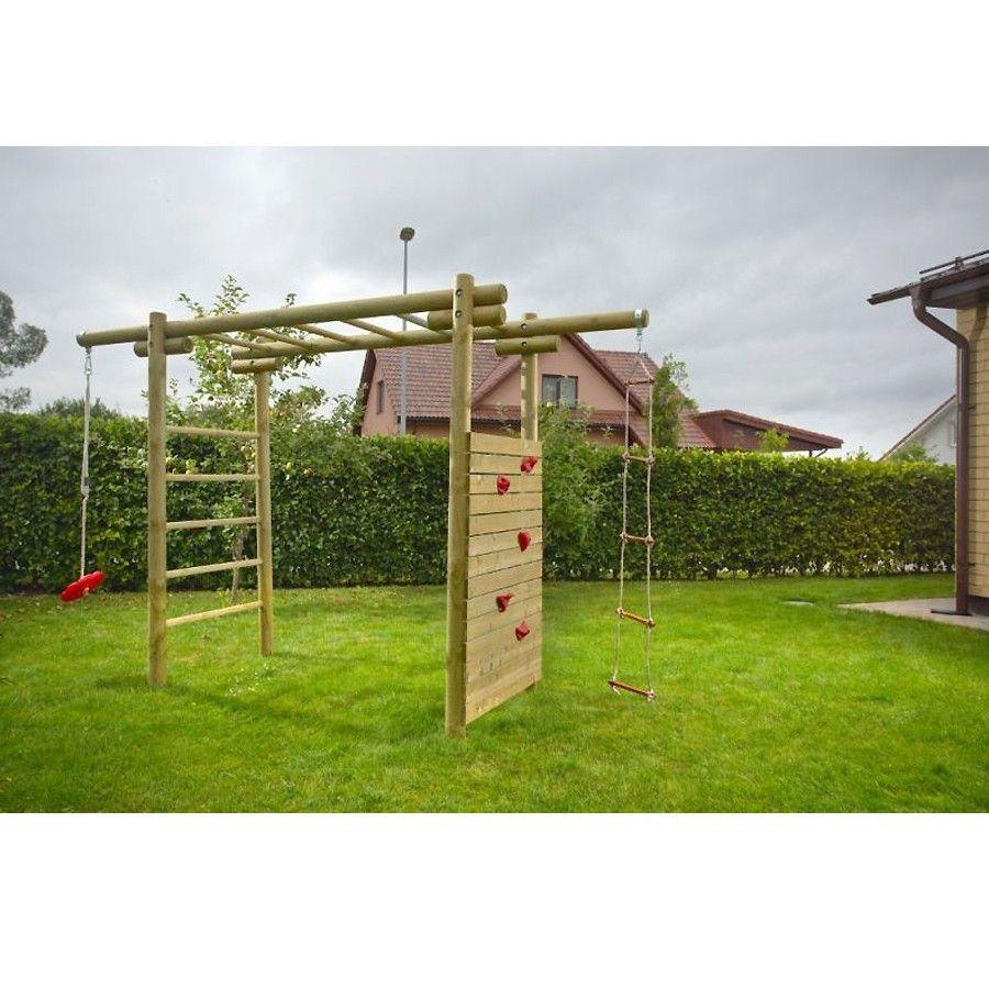 Kinder-Klettergerüst Classic 360x120x230 cm aus Holz | Garten Ideen ...