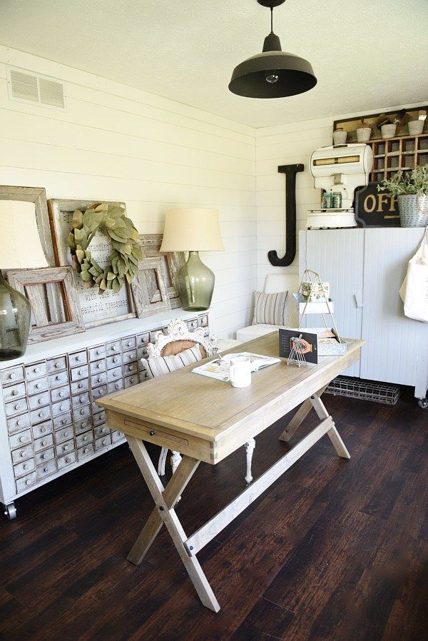 Farmhouse Addition Home Design Ideas Pictures Remodel And Decor: Farmhouse Office, Home Office Decor, Home Office Furniture