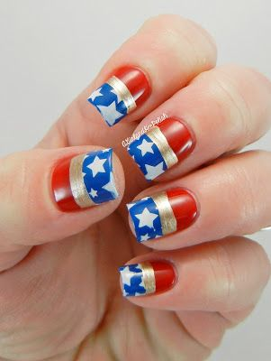 The Nail Challenge Collaborative Presents: Super Heroes and Villains - Wonder Woman
