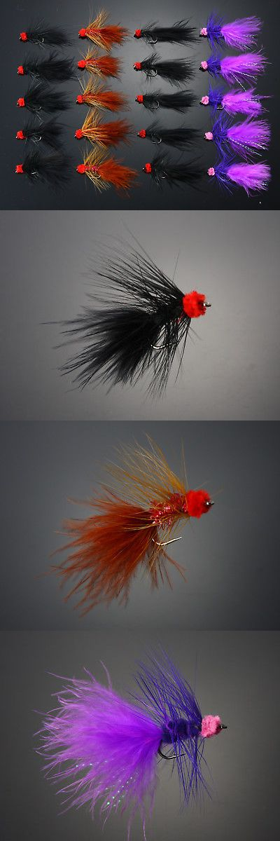 40Pcs Egg-Sucking Leach Woolly Buggers Salmon Trout Fly Fishing Flies H07-40