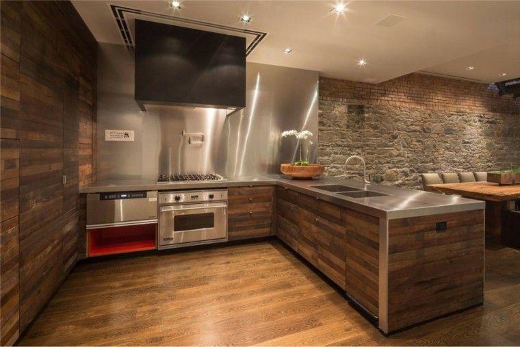 Piedra y madera para los revestimientos de paredes | Drywall, Lofts ...