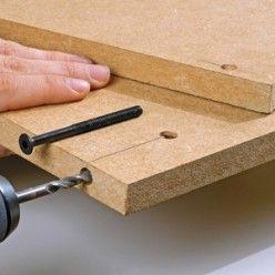 Comment r aliser un assemblage vis en l bricolage bricolage quincaillerie et - Quincaillerie assemblage meuble bois ...