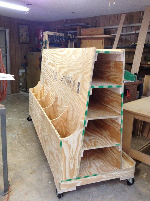 Image result for rolling lumber cart plans   Woodwork in 2019   Woodworking garage, Lumber ...
