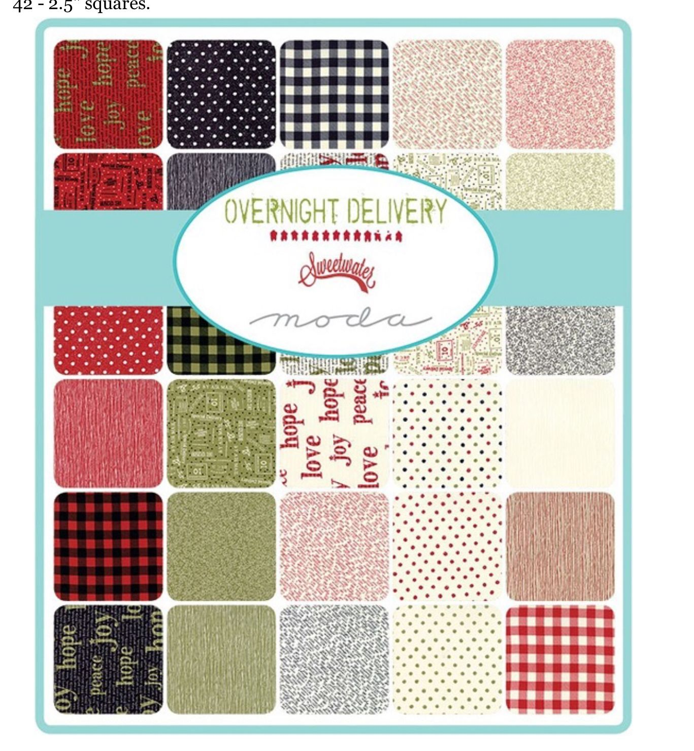Sweet Tea cotton Layer cake squares  by Sweetwater for Moda fabrics