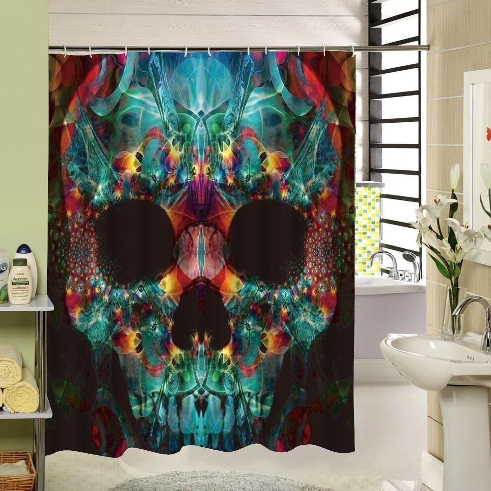 3d Skull Shower Curtain Skull Shower Curtain Funny Shower Curtains Bathroom Shower Curtains