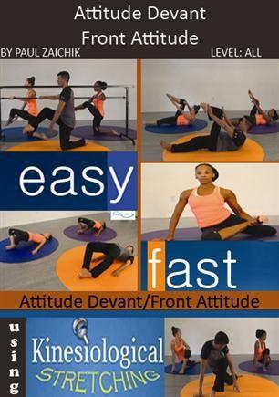 attitude devant front attitude  flexibility dance