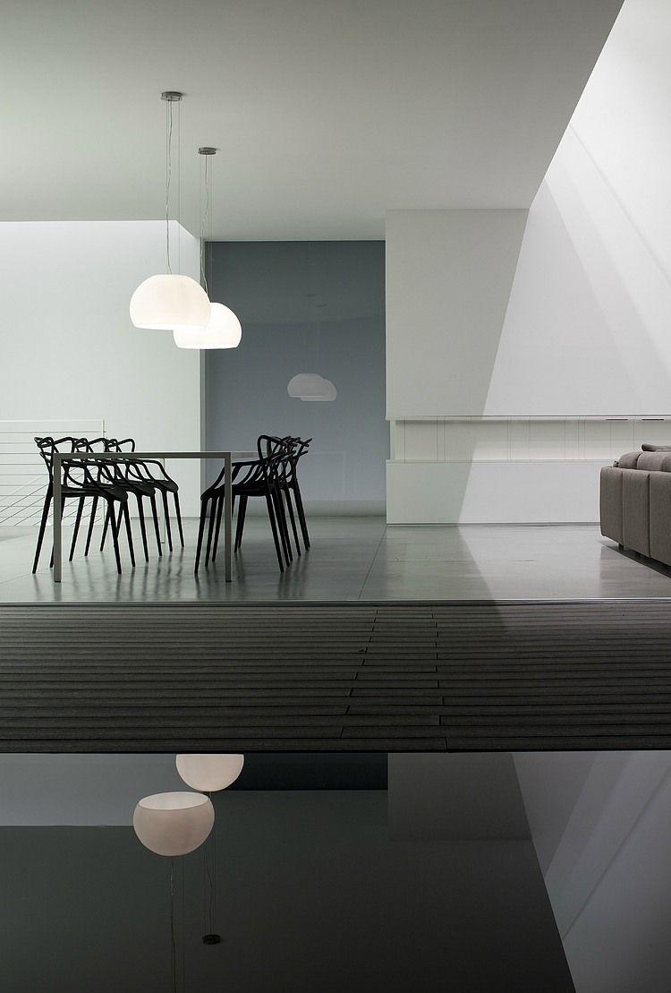 Esszimmer leuchtet zeitgenössisch afeka house by pitsou kedem architects  dining room  esszimmer