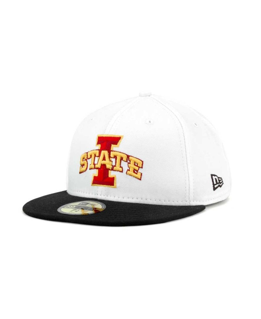 cheap for discount 02f81 4cce7 New Era Iowa State Cyclones Ncaa White 2 Tone 59FIFTY Cap