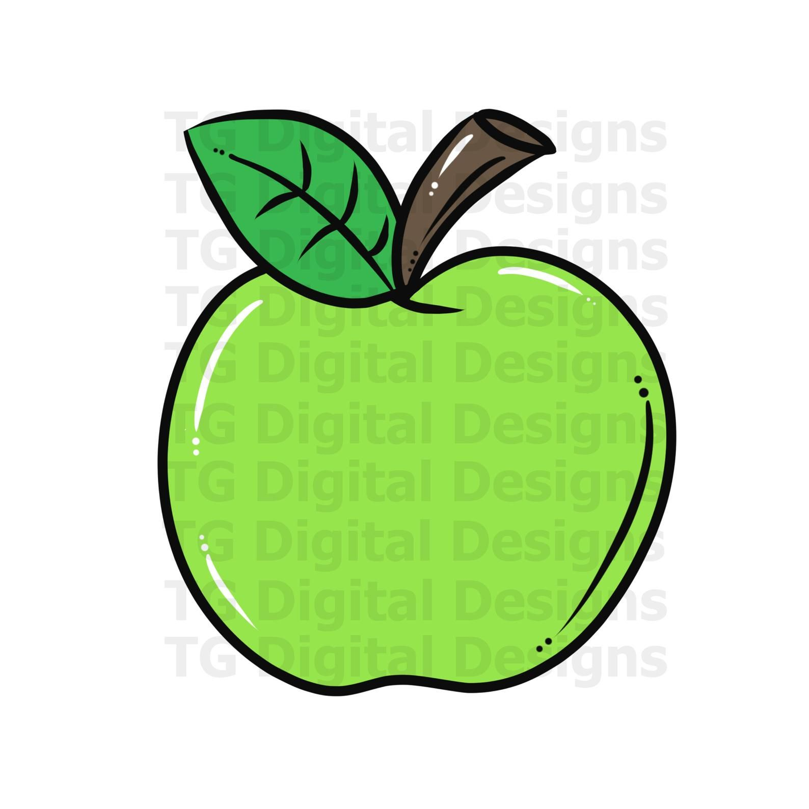 Green Apple Png Apple Clipart Apple Design Apple Printable Apple School Apple Teacher Teacher Png Apple Digital Download File Apple Design Clip Art Apple School