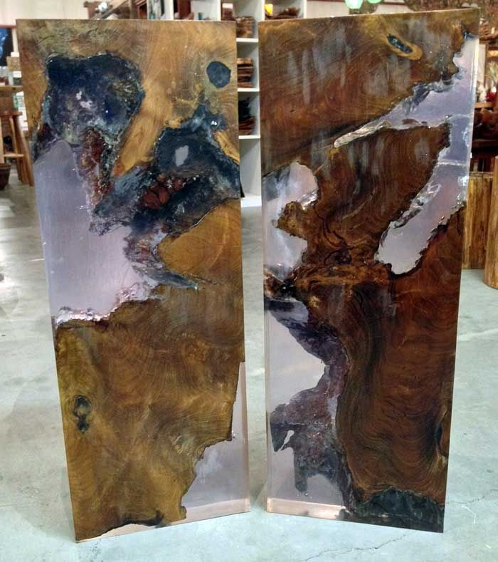 Teak And Resin Console Table Tops Impact Imports Of Boise