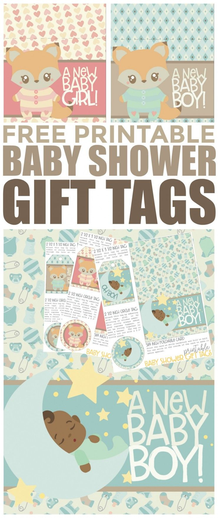 Free printable baby shower gift tags circle punch free printable these free printable baby shower gift tags are super fun and cute dont you negle Images