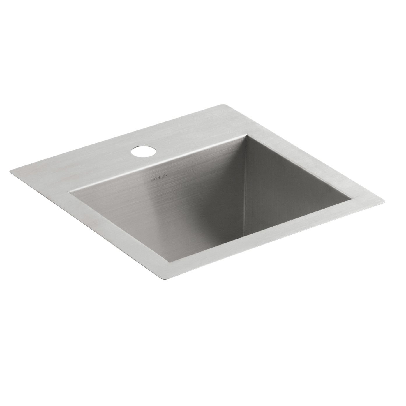 Vault Top Mount Under Mount Bar Sink With Single Faucet Hole With
