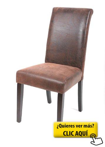 Silla de comedor haya maciza wengué/marrón... #silla #comedor ...