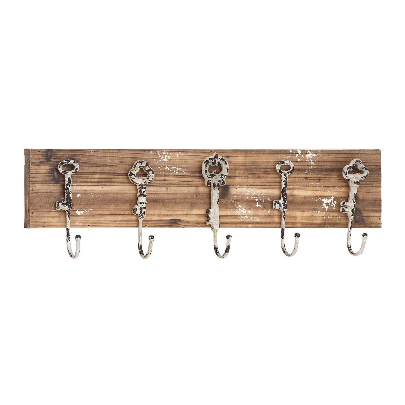 Woodland Imports 55462 Modern Metal and Wood Wall Coat Rack